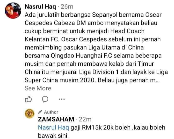 Pesawat MAS MALAYSIA 28 Oscar Minat Latih Pasukan Kelantan