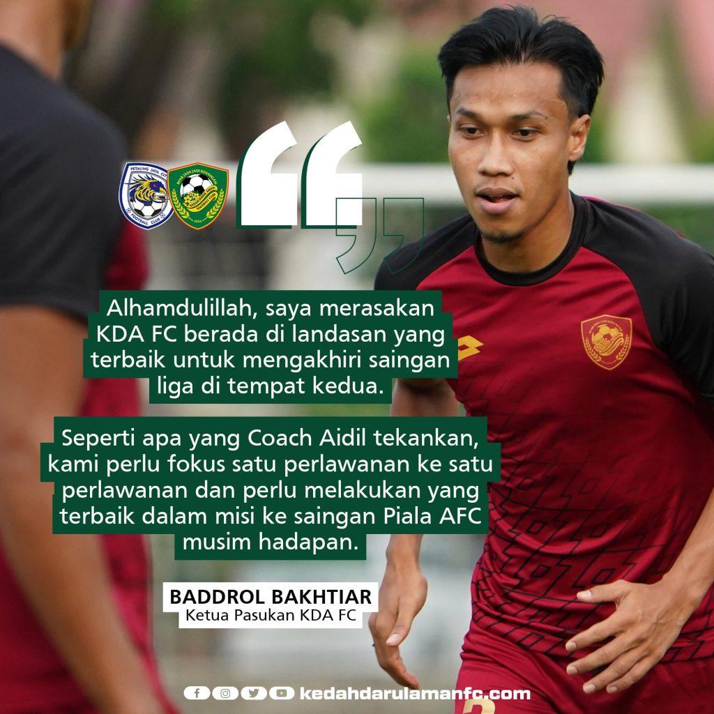 baddrol kedah 1 Baddrol Bakhtiar Optimis Kedah Bakal Akhiri Liga Di Tempat Ke-2